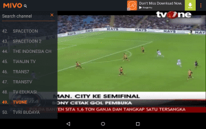 Aplikasi TV Streaming Bola Mivo