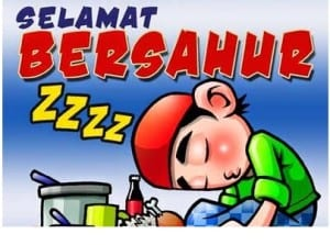 DP BBM Bulan Puasa Ramadhan malas sahur