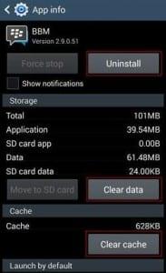 Uninstall Aplikasi BBM