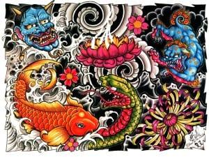 gambar tato ikan terbaru