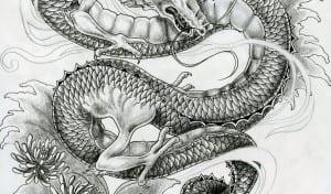 gambar tato naga