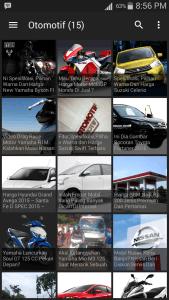 tampilan Aplikasi Berita Otomotif