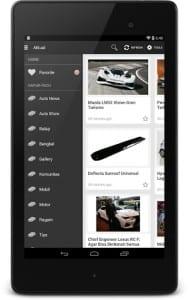 tampilan Aplikasi Media Otomotif