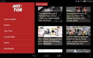 tampilan Aplikasi MotorPlus