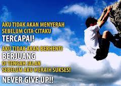 Dp bbm Kata Motivasi Sukses never give up