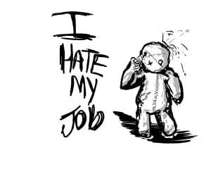 Gambar benci pekerjaan