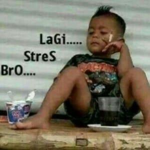 dp bbm lagi stress lucu