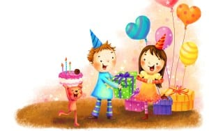 Animasi bergerak selamat ulang tahun lucu