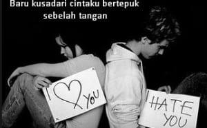 Gambar kata kata cinta bertepuk sebelah tangan