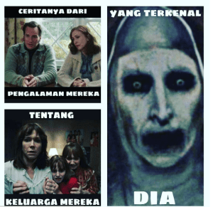 Meme hantu valak conjuring 2 lucu gokil
