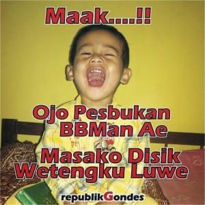 Dp bbm bahasa jawa paling kocak