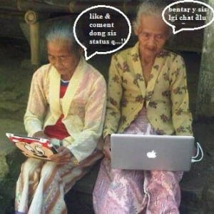 Gambar lucu nenek gaul terbaru