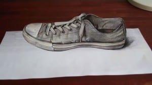 Gambar lukisan 3d pensil