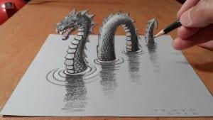 Lukisan 3d yang mengagumkan