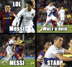 Meme kocak sepak bola terbaru