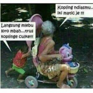 Meme nenek nenek gaul paling kocak