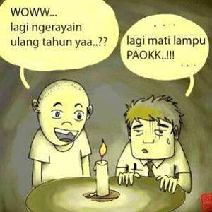 Meme mati lampu lucu