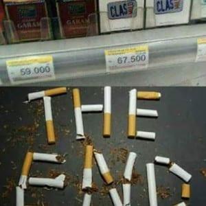 Meme rokok mahal lucu
