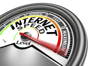internet speed conceptual meter
