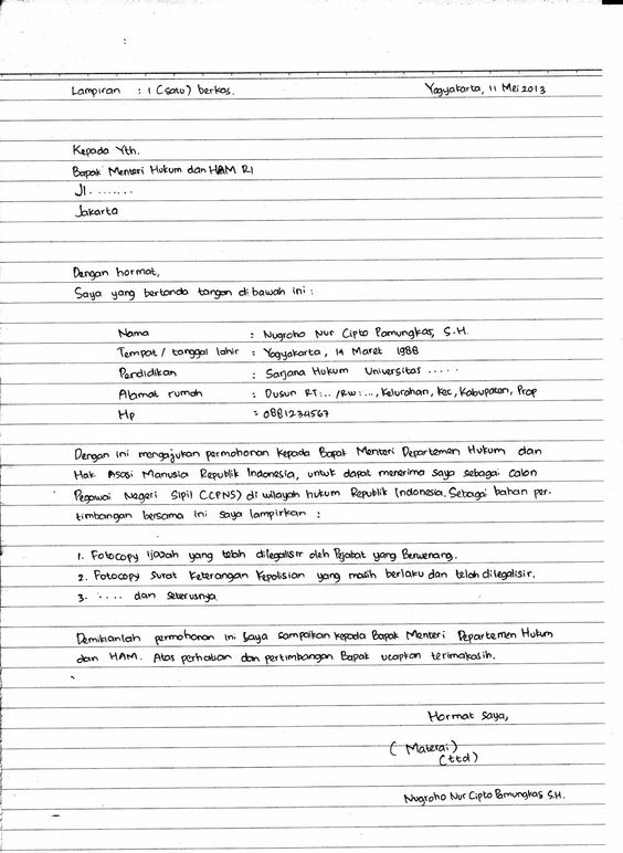 Contoh Daftar Riwayat Hidup Cv Curriculum Vitae Tulis