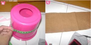 cara membuat tempat tisu dari kain flanel