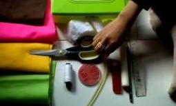 membuat tempat tisu dari kain flanel