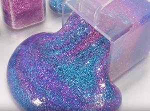 cara membuat slime gliter