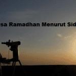 Kapan Awal Puasa Ramadhan 2017 Menurut Hasil Sidang Isbat?