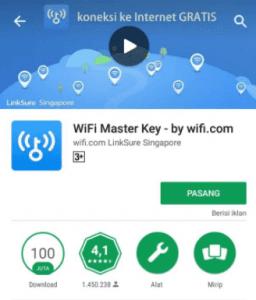Bagaimana cara menggunakan wifi master key di hp android