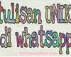 Tulisan Unik di WhatsApp