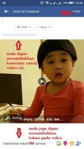 cara upload video di facebook lewat uc browser