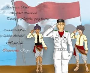 Kumpulan Gambar DP BBM Animasi Bergerak Bendera Merah Putih