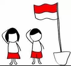 dp bbm hormat bendera merah putih