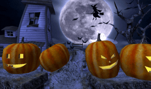 gambar halloween rumah hantu