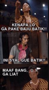 meme lucu hari batik nasional