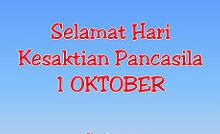 selamat hari kesaktian pancasila 1 oktober