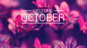 welcome oktober 2017