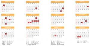 Kalender Hari Libur Nasional dan Cuti Bersama 2018