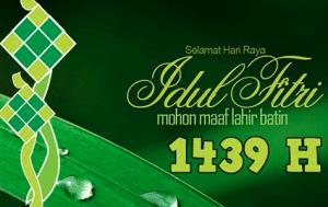 DP BBM Ucapan Selamat Hari Raya Idul Fitri 1439 H