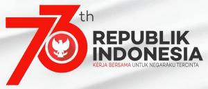 Gambar Logo Resmi HUT Kemerdekaan RI ke-73 terbaru
